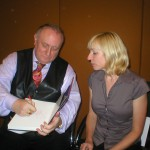 Richard Bandler book signing for Amanda on the Master Practitioner NLP course in London